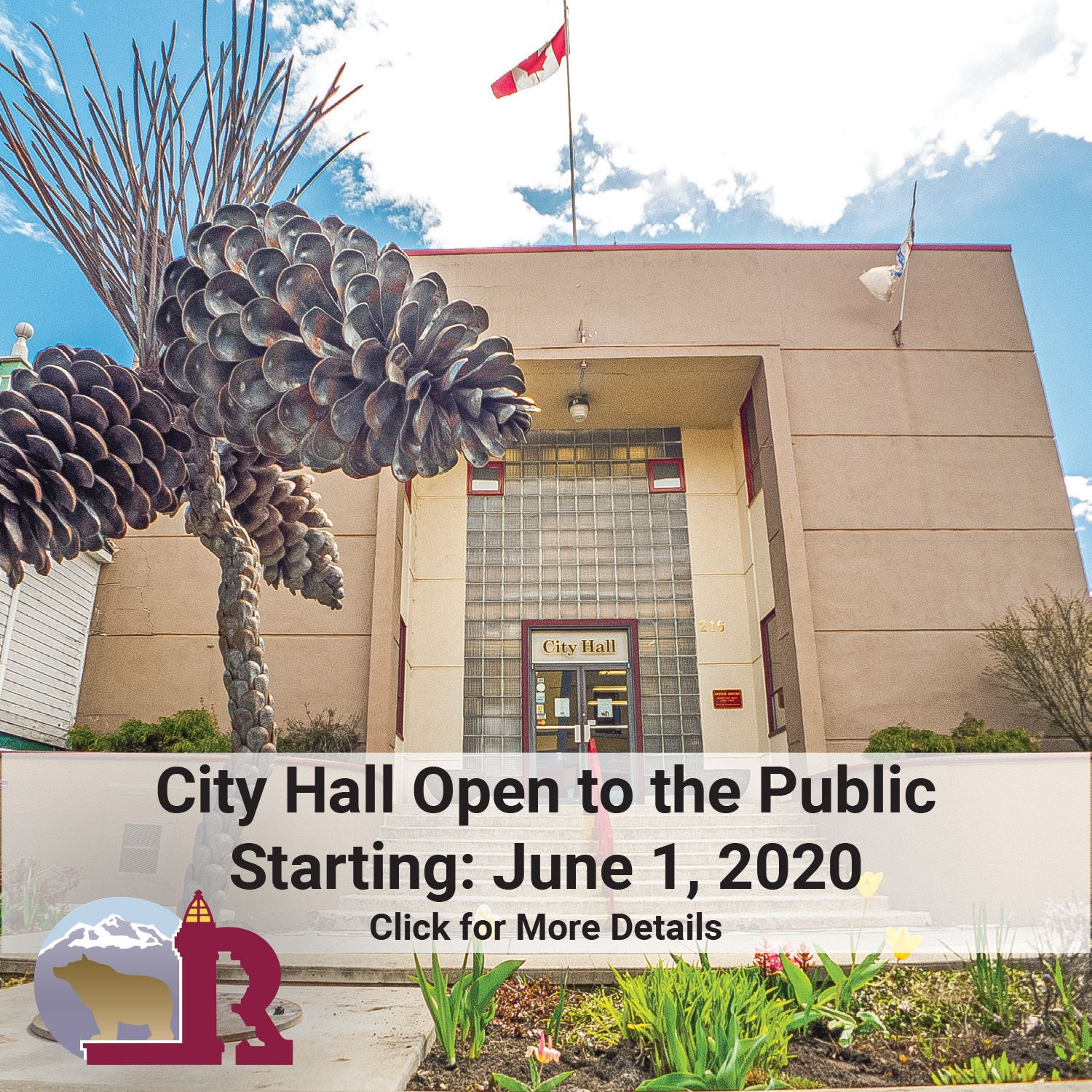 City Hall Re-Opening June 1-2020