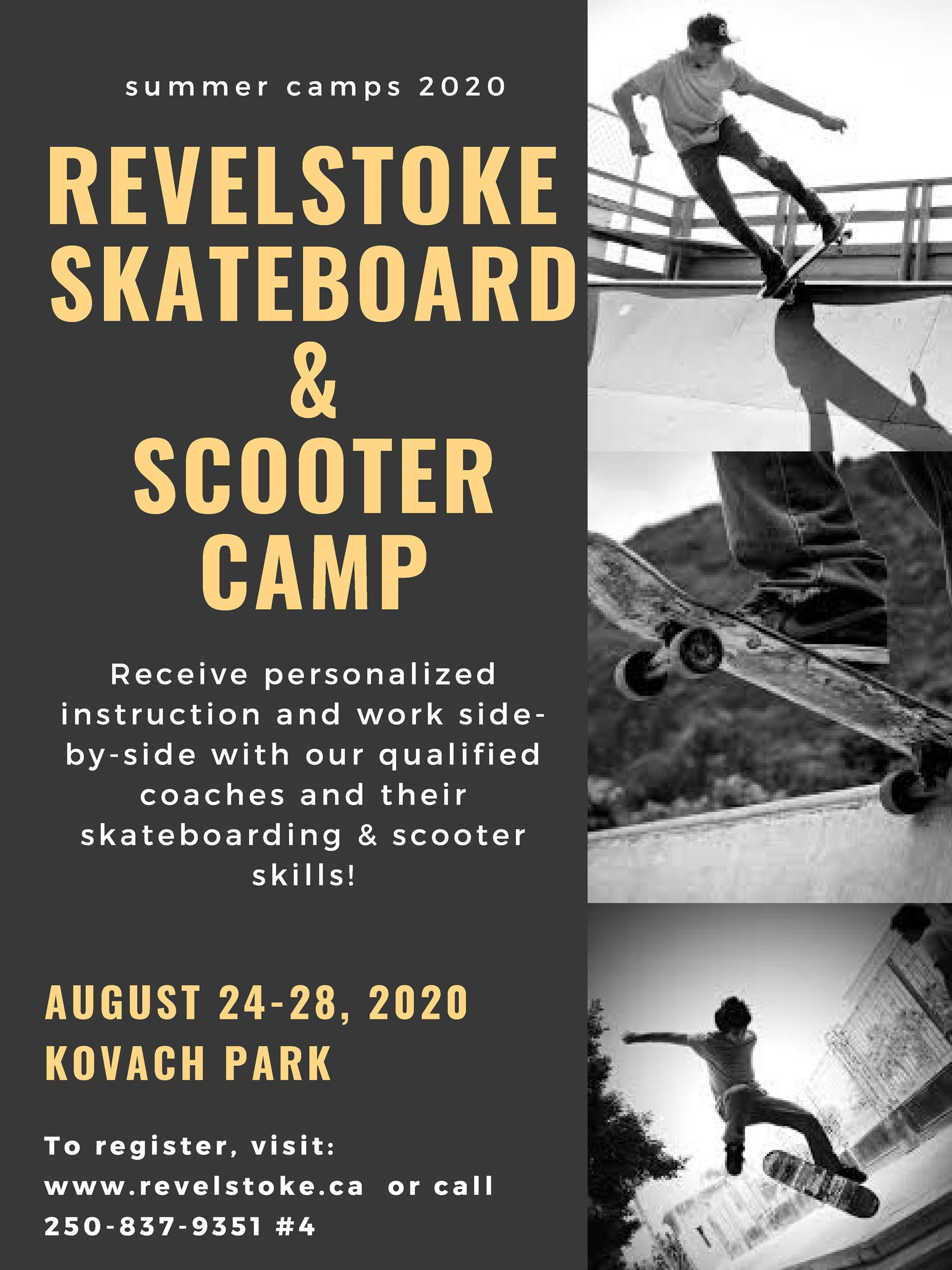 revelstoke skateboard  scooter camp