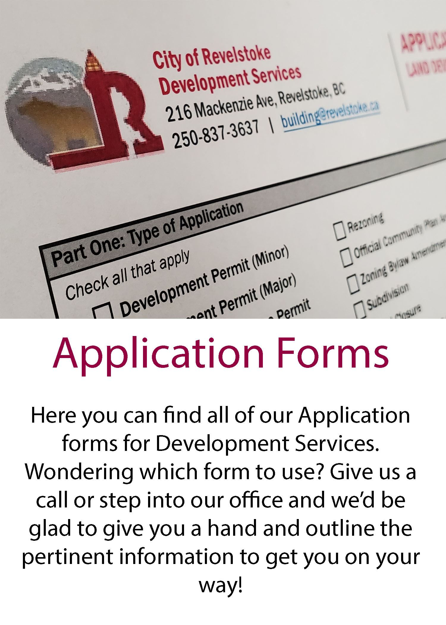 Application Forms button