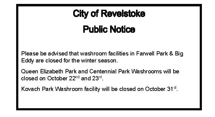 Washroom Closures
