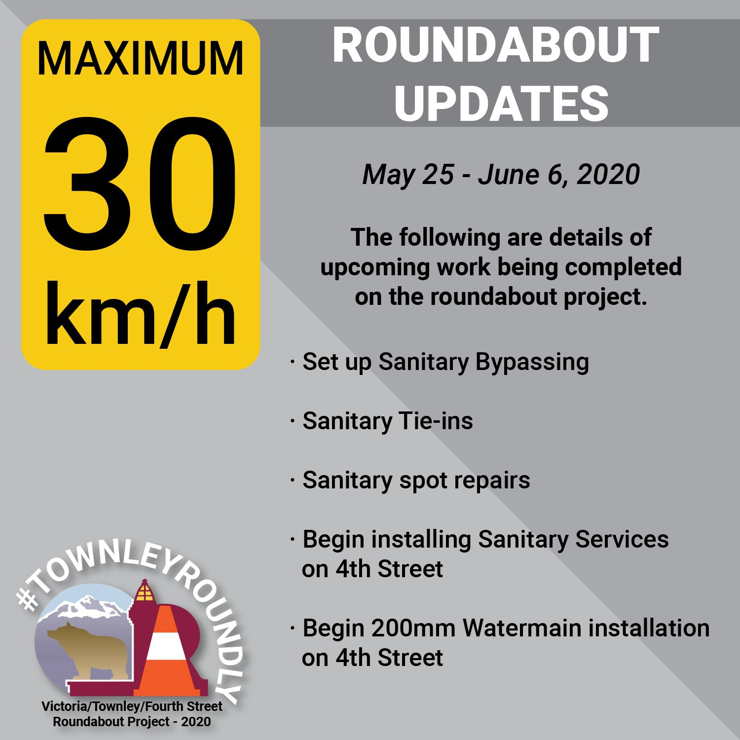 TownleyRoundly 2020_Construction Updates_May 25-June 6